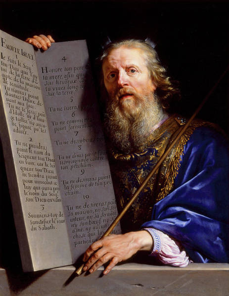 Wall Art - Painting - Moses Presenting The Tablets Of The Law by Philippe de Champaigne