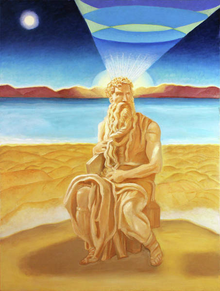 Painting - Moshe Rabbenu  by Suzanne Cerny