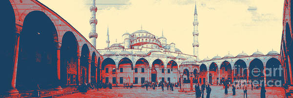 Mosque Digital Art - Mosque In Turkey by Celestial Images