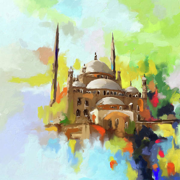 Wall Art - Painting - Mosque Of Muhammad Ali Pasha 418 I by Mawra Tahreem