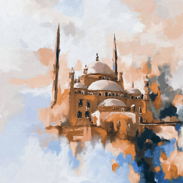 Wall Art - Painting - Mosque Of Muhammad Ali Pasha 418 II by Mawra Tahreem