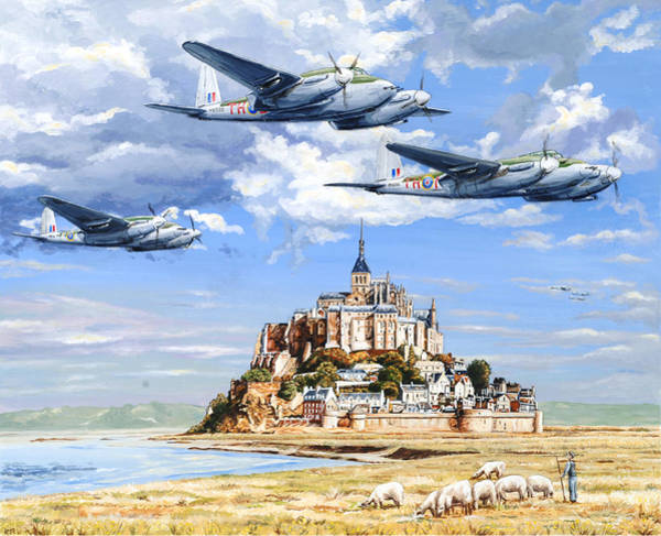 Attack Painting - Mosquito Run by Charles Taylor