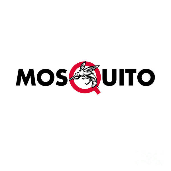 Wall Art - Digital Art - Mosquito Text Mascot by Aloysius Patrimonio