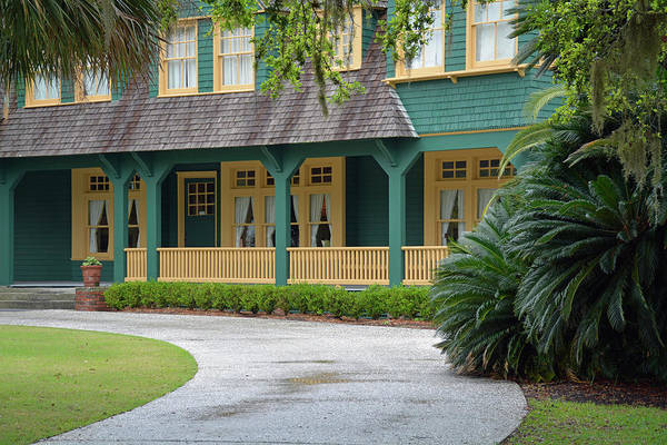 Photograph - Moss Cottage Porch Jekyll Island by Bruce Gourley