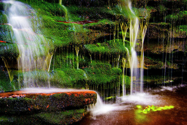 Photograph - Moss Falls - 2981-2 by Paul W Faust - Impressions of Light