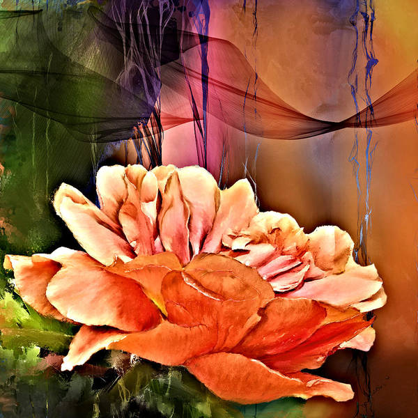Digital Art - Mossrose  by Susan Kinney