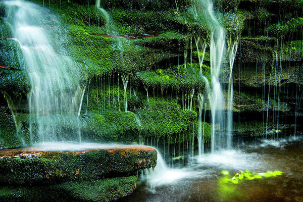 Photograph - Mossy Falls - 2981 by Paul W Faust - Impressions of Light