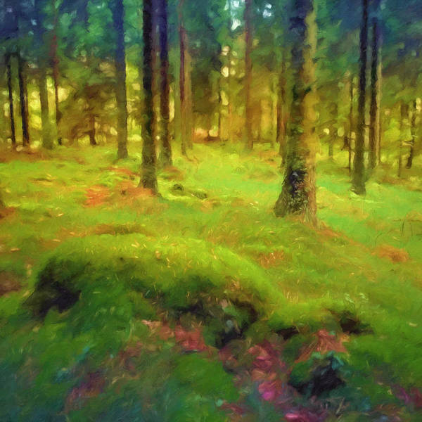Painting - Mossy Woods by Lutz Baar