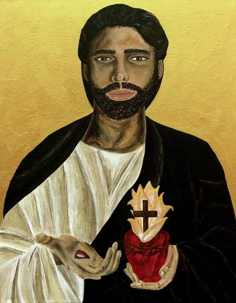 Wall Art - Painting - Most Sacred Heart Of Jesus by Mikayla Ruth Koble