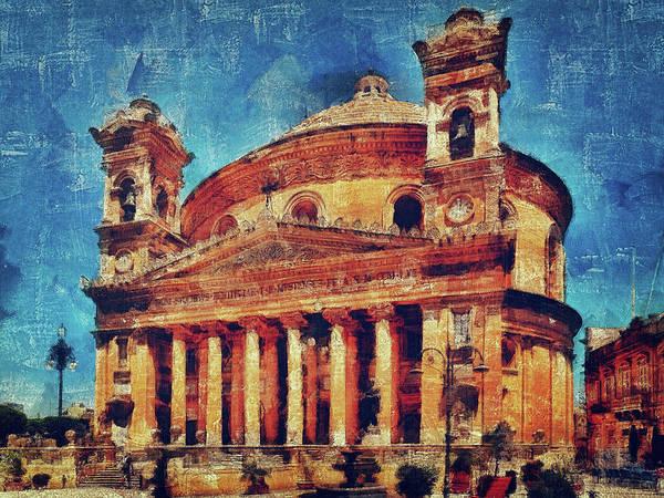 Mosta Church Art Print