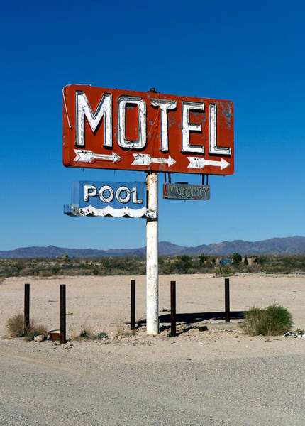 Scott Sawyer - Motel Sign on I-40 and old Route 66