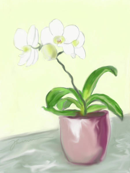 Painting - Moth Orchid by Jean Pacheco Ravinski
