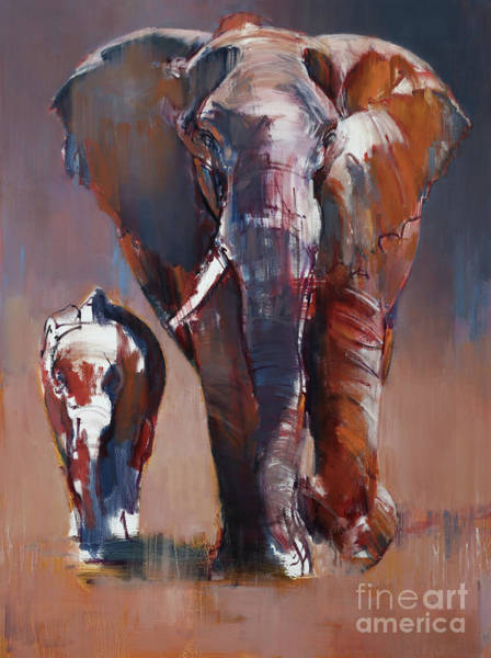Painting - Mother And Calf by Mark Adlington