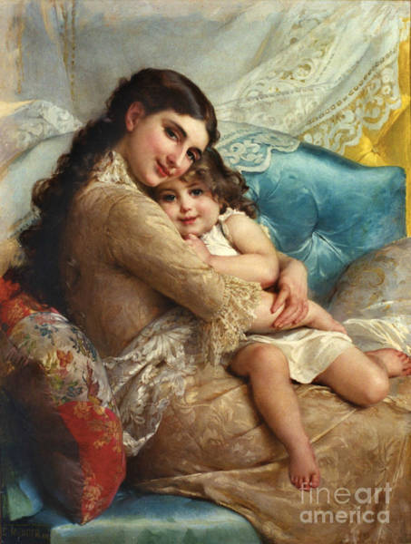 Wall Art - Photograph - Mother And Child 1885 by Padre Art