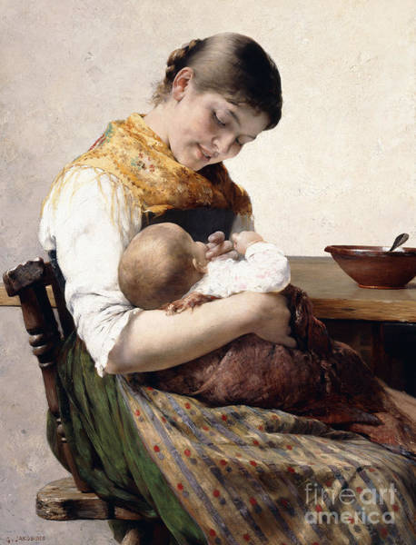Painting - Mother And Child  by Georges Jacobides
