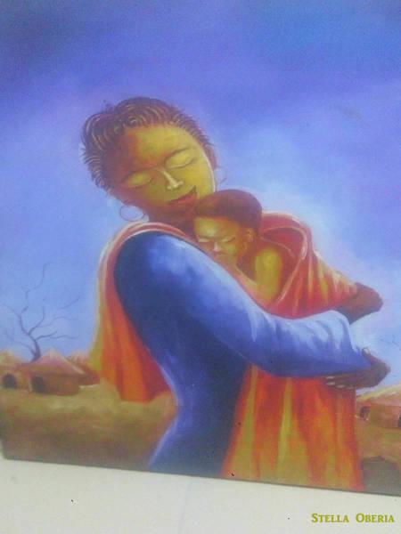 Katrina Digital Art - Mother And Child by Katrina Castleton