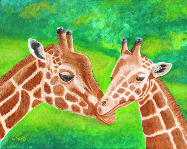 Wall Art - Painting - Mother And Child by Laura Zoellner