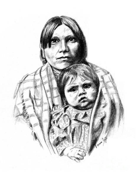 Drawing - Mother And Child by Toon De Zwart