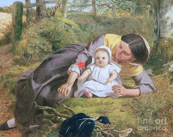 Painting - Mother And Child With A Poppy by Frederick Richard Pickersgill