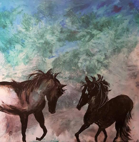 Painting - Mother And Colt                 30 by Cheryl Nancy Ann Gordon