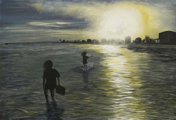 Painting - Mother And Daughter by Davend Dominick