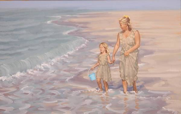 Painting - Mother And Daughter by Gary M Long