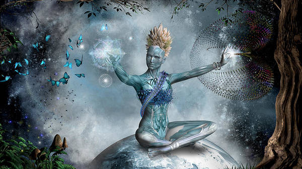 Sacred Heart Digital Art - Mother Ayahuasca by Trevor Hamlett