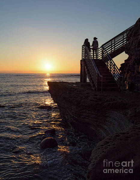 Photograph - Mother-daughter Sunset, San Diego, California  -74708 by John Bald