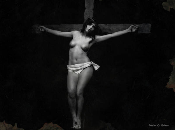 Crucifixion Of Jesus Photograph - Mother Forgive Them by Ramon Martinez