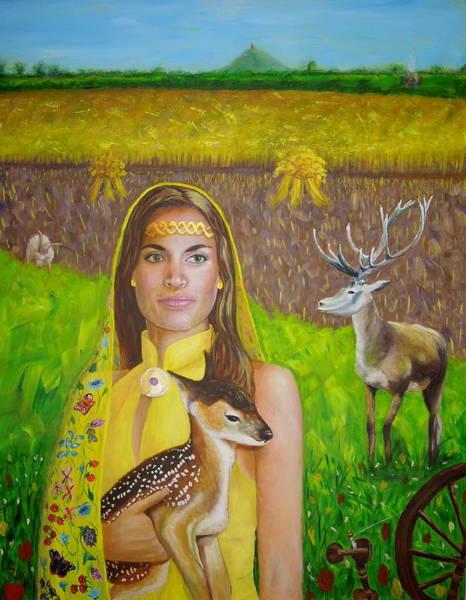 Painting - Mother Goddess Ker - Lammas by Shirley Wellstead