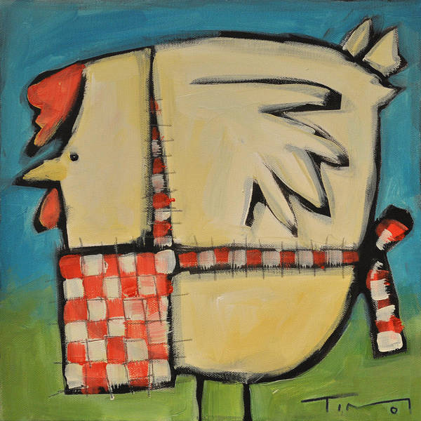 Wall Art - Painting - Mother Hen by Tim Nyberg