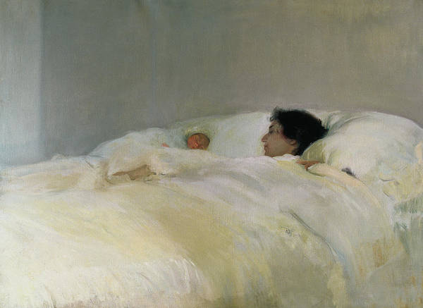 Relaxation Painting - Mother by Joaquin Sorolla y Bastida