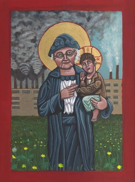 Painting - Mother Jones by Kelly Latimore