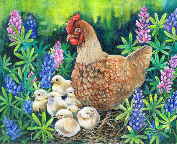 Painting - Mother Love. by Val Stokes