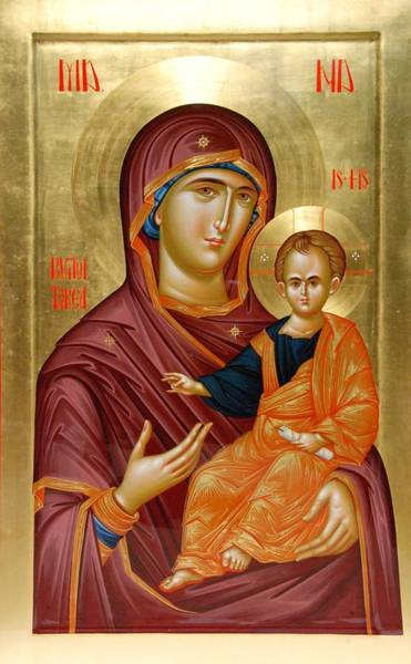 Ortodox Wall Art - Painting - Mother Of God by Daniel Neculae