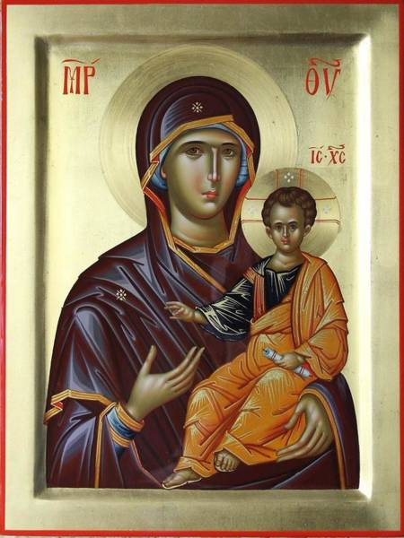 Ortodox Wall Art - Painting - Mother Of God Hodighitria by Daniel Neculae