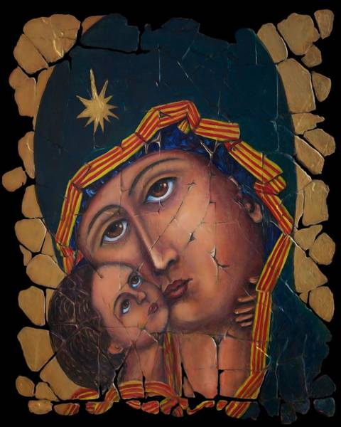 Painting - Mother Of God by OLena Art - Lena Owens