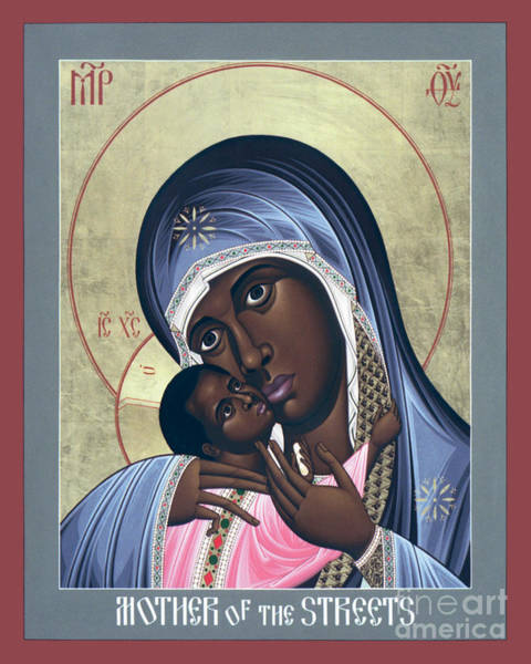 Painting - Mother Of God - Mother Of The Streets - Rlmos by Br Robert Lentz OFM
