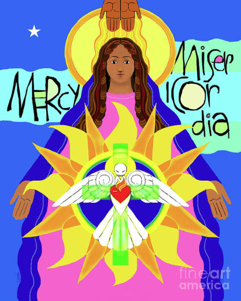 Painting - Mother Of Mercy - Mmmcy by Br Mickey McGrath OSFS