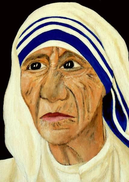 Wall Art - Painting - Saint Teresa Of Calcutta by Mikayla Ruth Koble