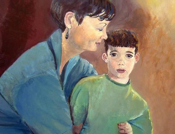 My Son Painting - Motherhood by Aviva D Sasson