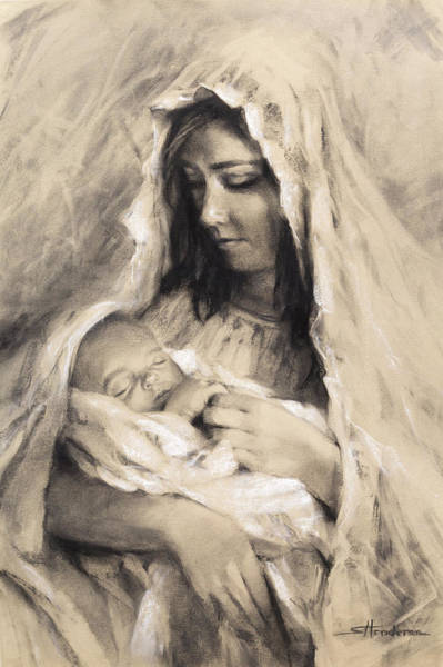 Wall Art - Drawing - Motherhood by Steve Henderson