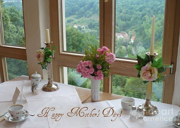 Wall Art - Photograph - Mother's Day Card - German Cafe by Carol Groenen