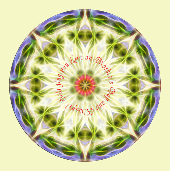 Mother's Day Mandala 1 Art Print