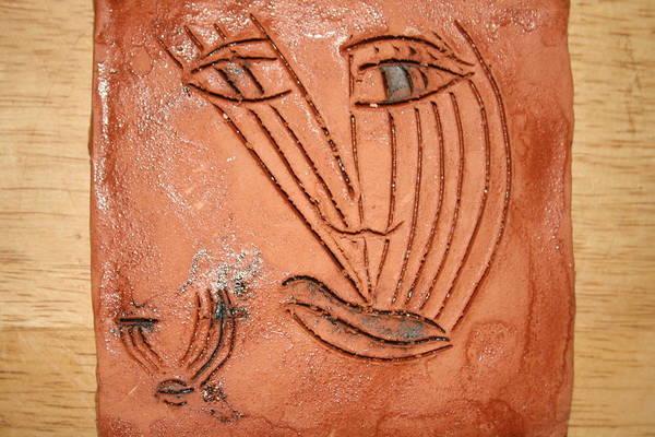 Ceramic Art - Mothers Eye - Tile by Gloria Ssali