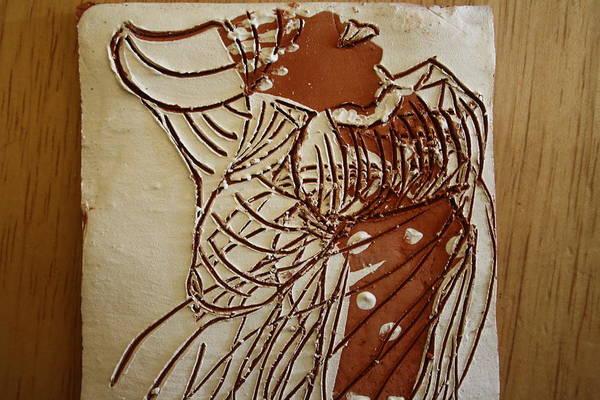 Ceramic Art - Mothers Glow - Tile by Gloria Ssali