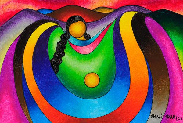 Wall Art - Pastel - Mother's Hug by Mamani Mamani
