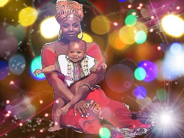 Digital Art - Mothers Love by Karen Buford