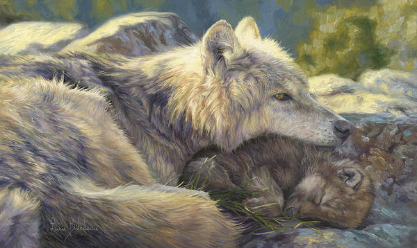 Painting - Mother's Treasure by Lucie Bilodeau