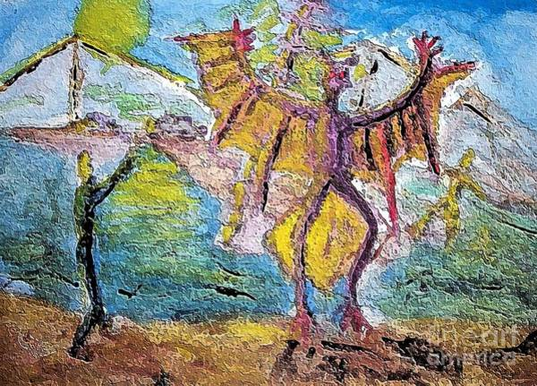 Painting - Mothman2 by Stanley Morganstein